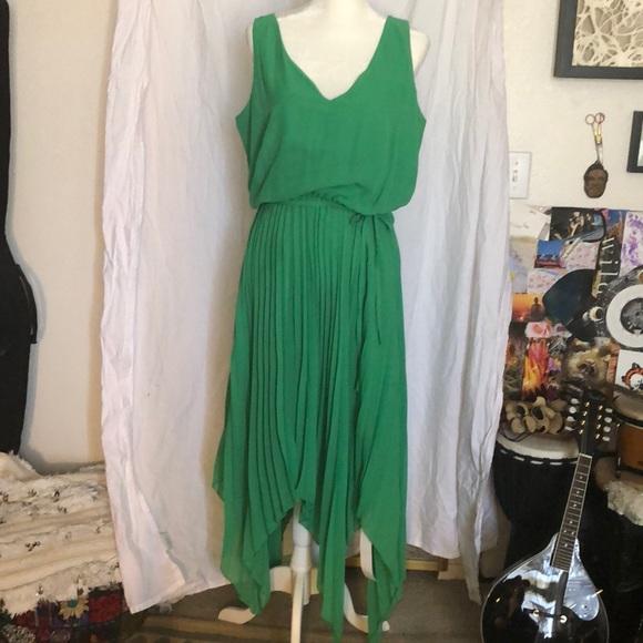 NWT Simply Be Green Chiffon Dress - Plus Size 14 Boutique